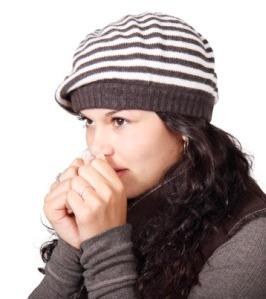 vrouw koud ziek